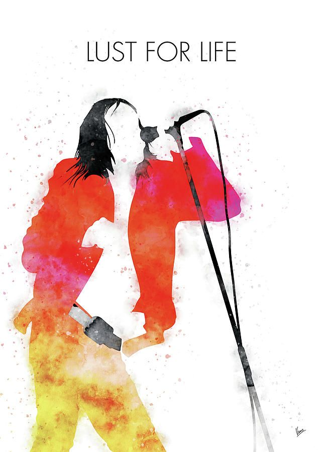 No210 MY IGGY POP Watercolor Music poster by Chungkong Art