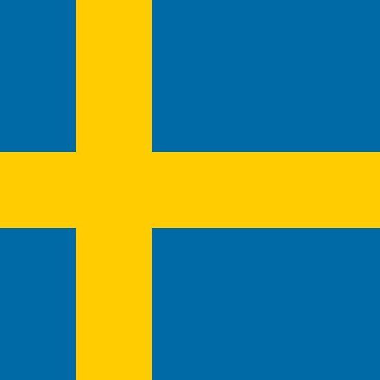 Swedish flag stickers