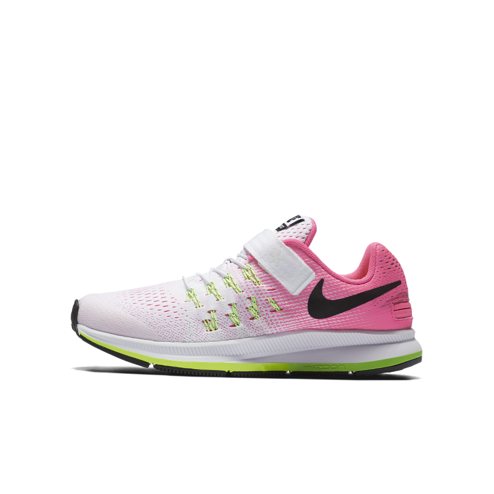 62780f3a72 Nike Air Zoom Pegasus 33 FlyEase Little/Big Kids' Running Shoe Size 4.5Y  (White)