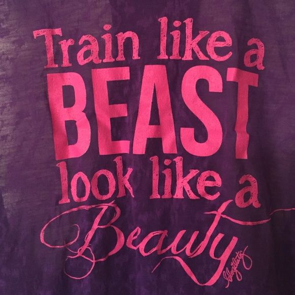Train like a beast tank Lite weight Train Like a Beast tank. Made of 68% cotton and 32% polyester this tank is very soft and lightweight. Never worn. Pet free and smoke free! Tops Tank Tops
