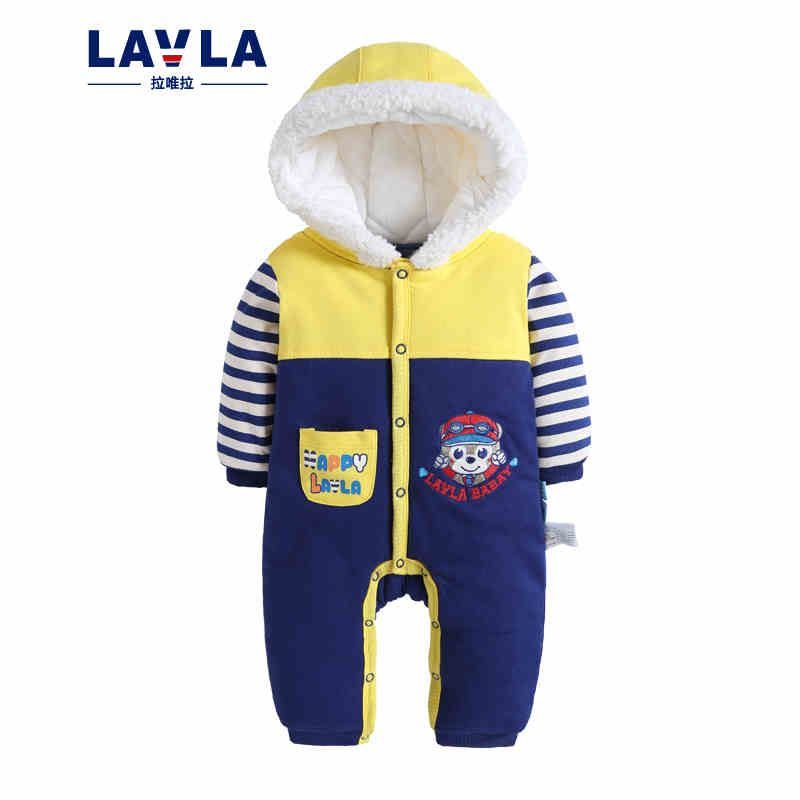 1bc2a17ec12 LAVLA Warm Thick Winter Knitted Coat Baby Romper Hoodies Fleece Newborn  Boys Girls Jumpsuits Cartoon Cut Infant Hooded Outwear. Yesterday s price   US  29.58 ...