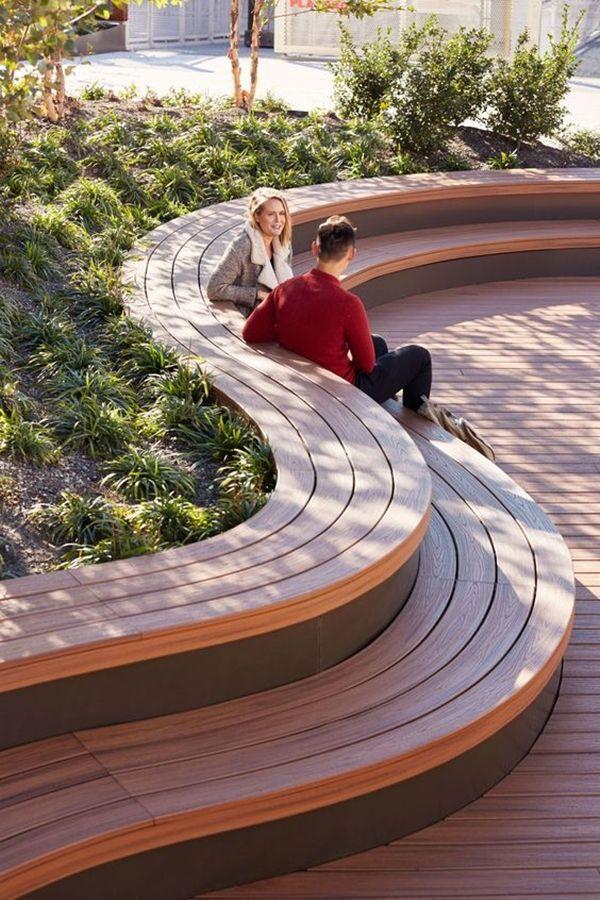 40 Unboring Park Bench Designs Which Are Extraordinary Urban Landscape Design Landscape Architecture Design Landscape Architecture