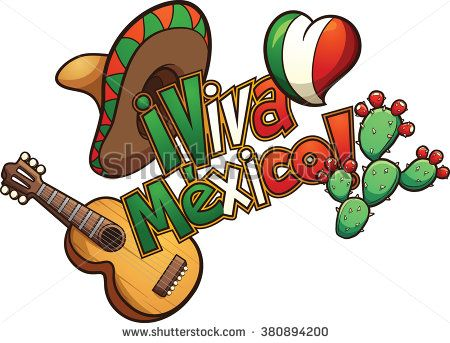 mexican elements set up in a banner reading viva mexico vector rh pinterest com mexican clip art borders mexican clip art pictures