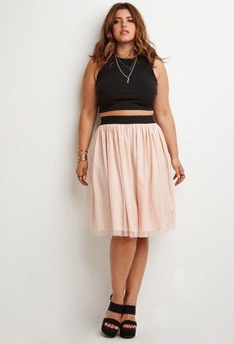 Plus size mini skirts and dresses