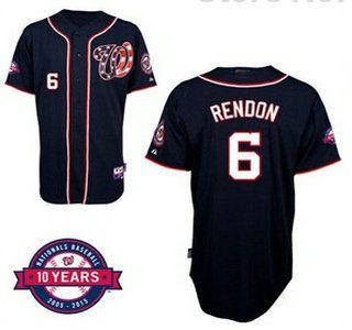 Washington Nationals Jersey 6 Anthony Rendon Navy Blue 10TH Jerseys