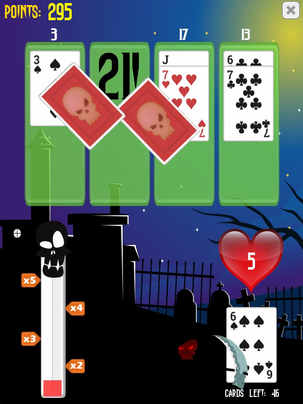 Dead Simple 21 has you going head to head with Death himself in this fast paced 21 card game. #DeadSimple21 #gaming #games