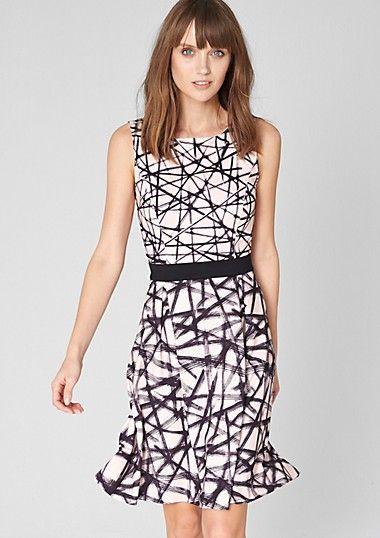 Stretchy geometric pattern dress, s.Oliver