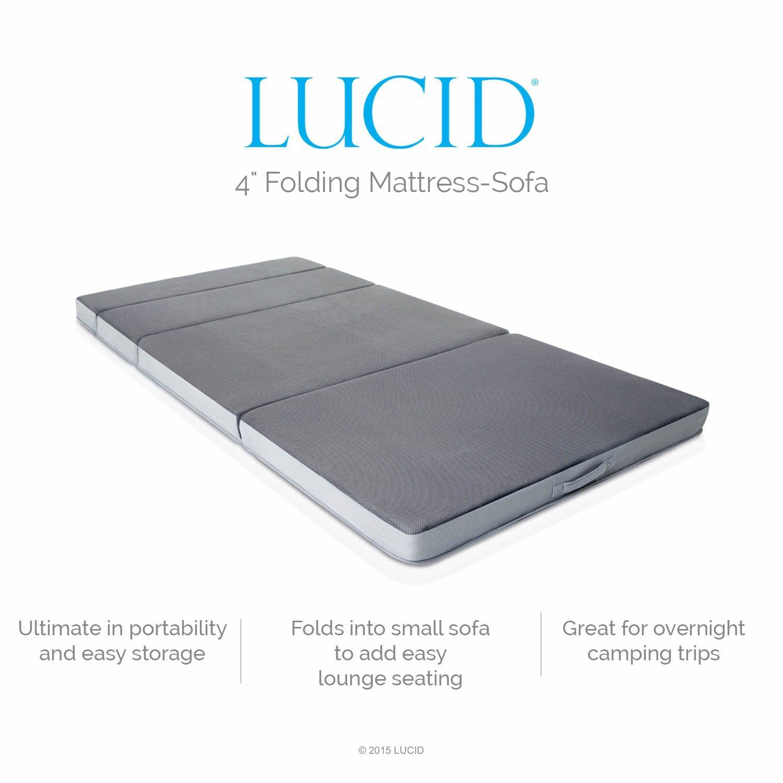 sleeper chair folding foam bed full size storage ideas amazon lucid 4 inch mattress