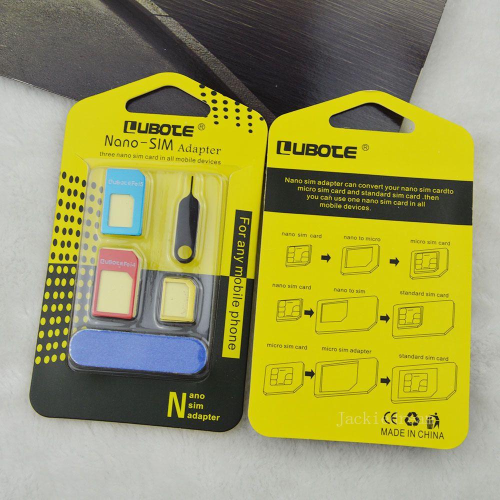 5 En 1 En Metal Nano Carte Sim A Micro Standard Adaptateur