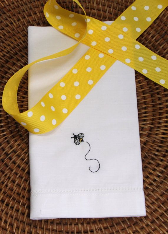 Bumble Bee Embroidered Cloth Napkins by WhiteTulipEmbroidery bee ...