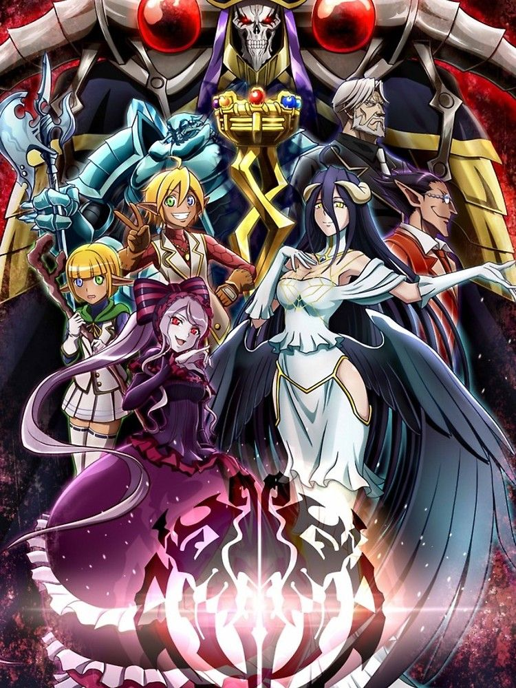 Overlord Anime Poster By Puigx Anime Android Wallpaper Anime Anime Character Drawing Overlord anime wallpaper iphone