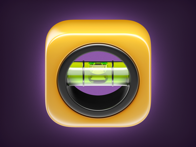 Spirit Level Icon Ios app icon, App icon, Ios icon