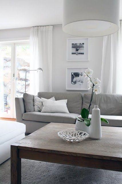 Interior / Decor / Home // Living Room // White / Grey   Home Ideas    Pinterest   Sala Estar, Salas E Decoração Sala