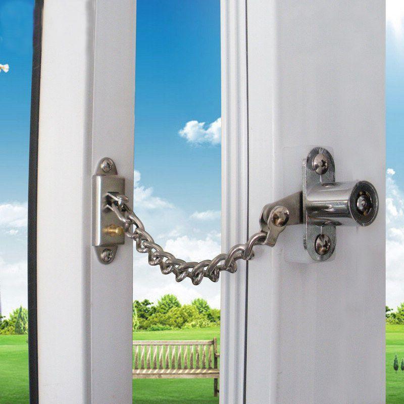 Lockable Window Security Chain Lock Door Restrictor Child Safety ...