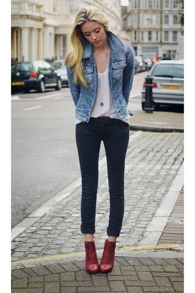 black jeans and jean jacket - Jean Yu Beauty