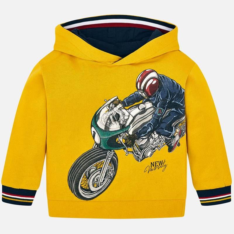 Hooded Sweatshirt With Design For Boy Caramel Mayoral Sweatshirts Hooded Sweatshirts Hoodies