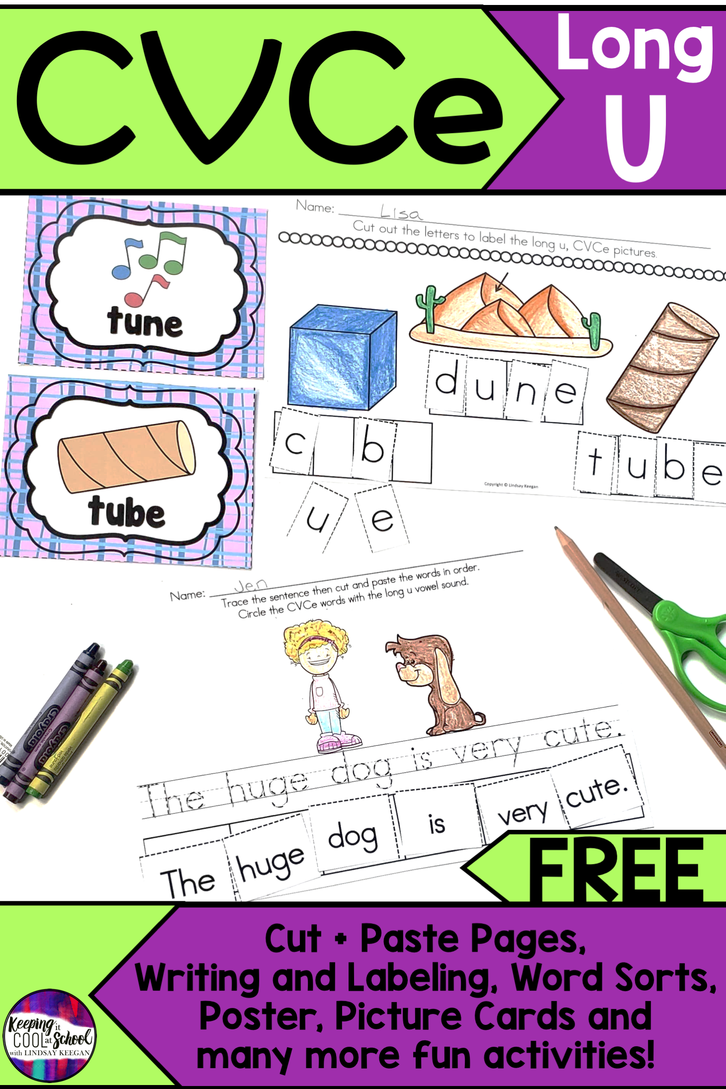 Cvce Worksheets Free   Printable Worksheets and Activities for Teachers [ 2193 x 1462 Pixel ]