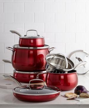 Belgique Aluminum 11 Pc Cookware Set Created For Macy S Reviews Cookware Kitchen Macy S Cookware Set Cookware Cookware Accessories