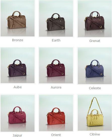Louis Vuitton Monogram Empreinte Speedy Bandouliere 25 Colors ... a74097ab538f2