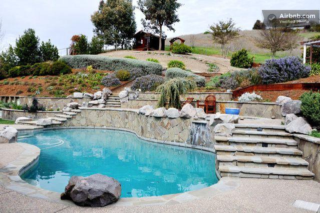 Two Bedroom Private Bath Pool Hotub In Novato Backyard Pool Swimming Pools Backyard Swimming Pool Designs