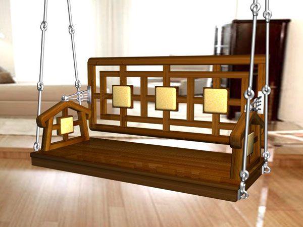 Mec 2 golden polished teakwood indian wooden swings in mumbai india