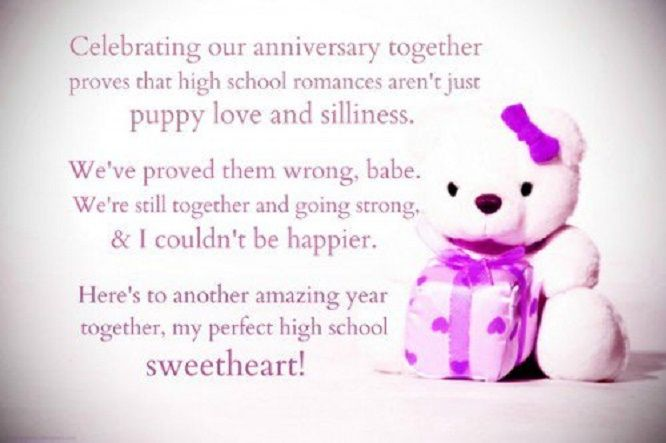 Happy dating anniversary message