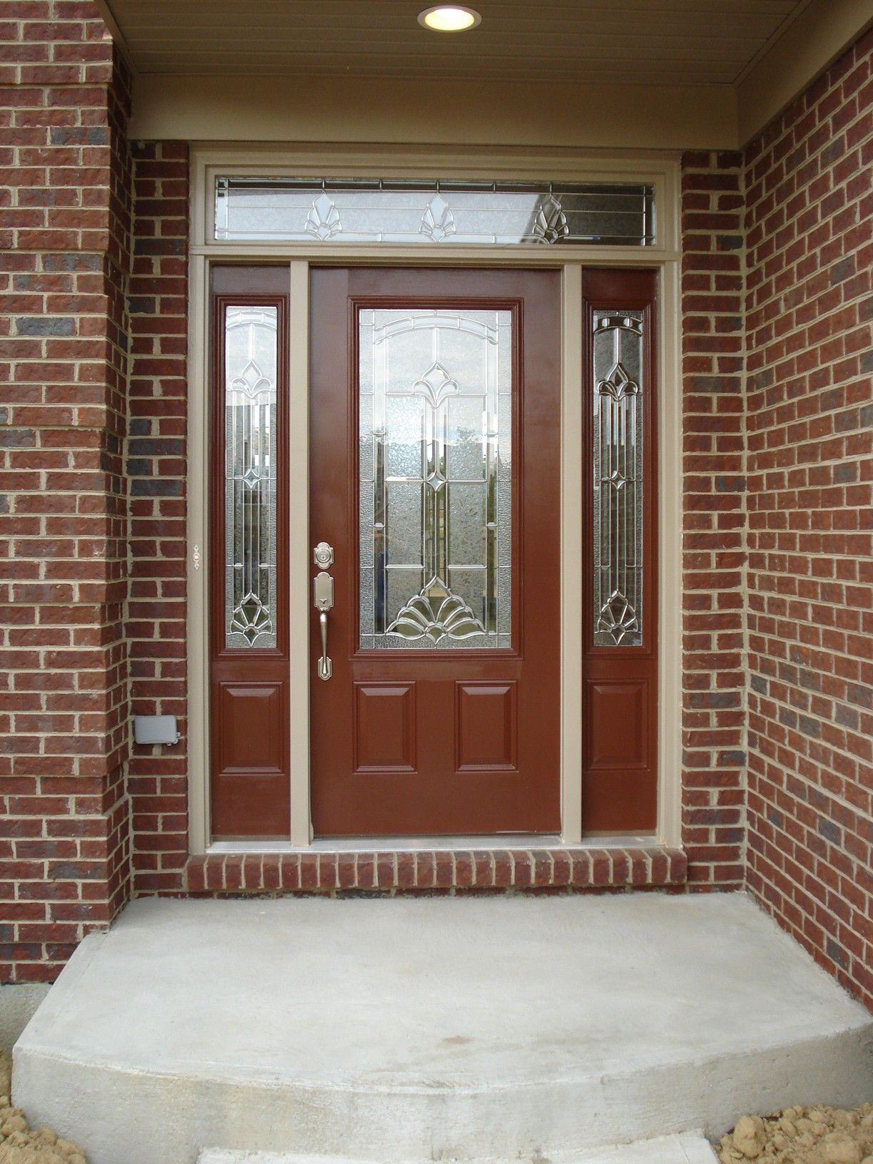 Exterior Chic Front Door Colors For Brick Houses fers Amazing
