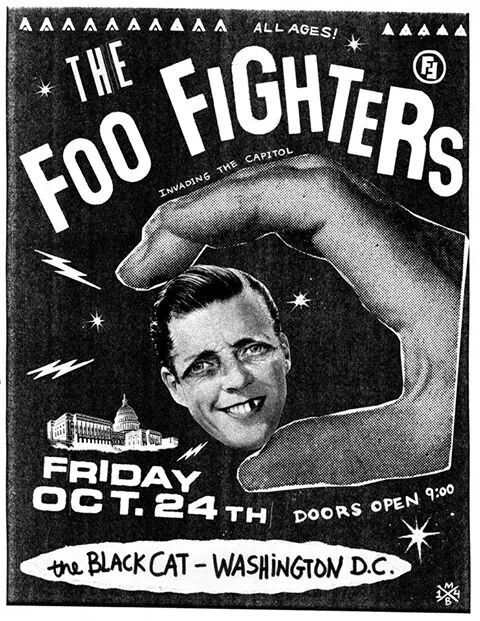 Foo Fighters Black Cat DC  Friday, Oct. 24th  Tix on sale TONIGHT October 21 at 6:00pm at the Black Cat - 1811 14th Street, NW - Washington, DC.  $20 per ticket - $3 service