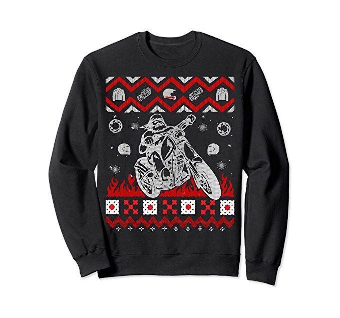 unisex motorcycle biker sweatshirt bike riding holiday apparel 2xl black