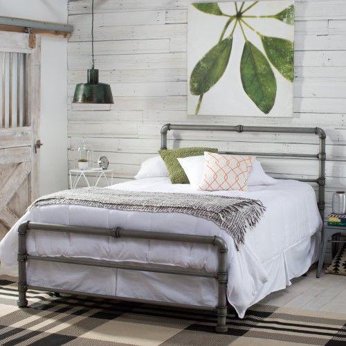 Loft Vintage Industrial Bett 180x200 Holz Stahl Vintagebelham