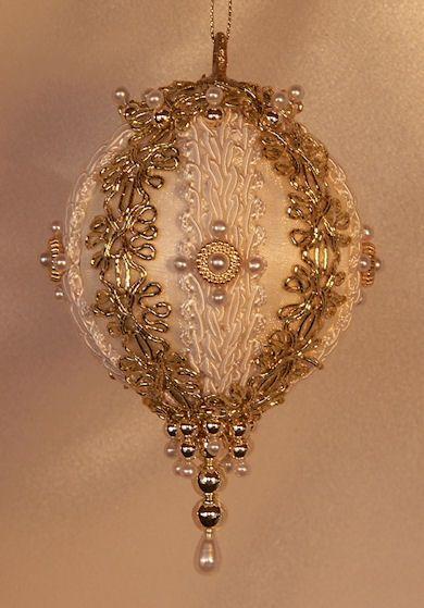 Handmade old world victorian heirloom beaded christmas