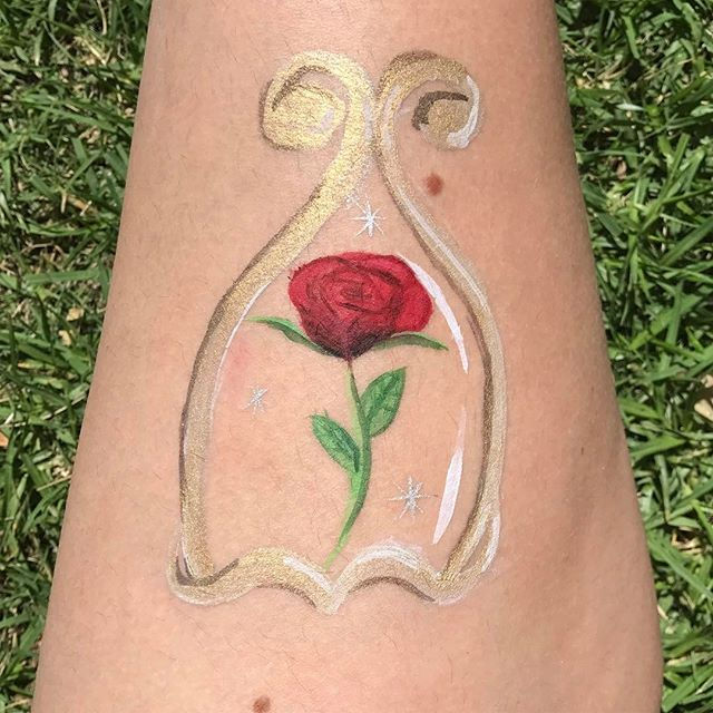 Beauty And The Beast Rose Face Painting Face Painting Designs Body Art Painting