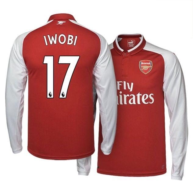 5e6548f4b Arsenal Shirt Home 2017-18 LS IWOBI