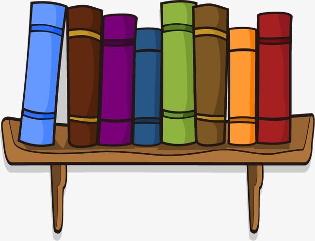 Cartoon Books Bookshelf Png And Vector Cartoon Books Bookshelves Cartoon