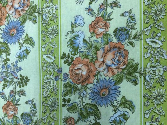 Vintage Waverly Schumacher Floral Fabric by AnneStewartPage