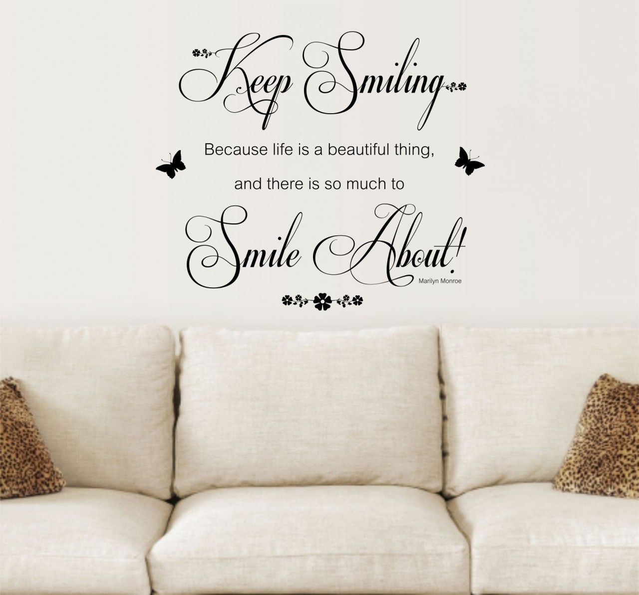 Ordinaire Wall Quotes And Sayings | Marilyn Monroe, Keep Smiling Quote, Vinyl Wall Art  Sticker