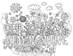 free mindfulness colouring sheets positive words - Google ...