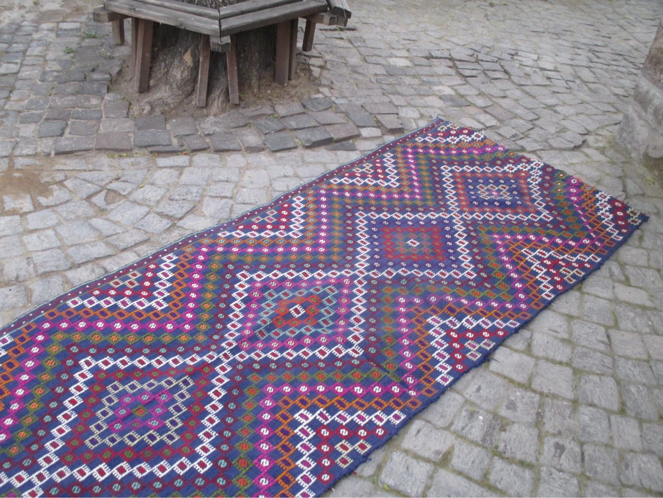 "50 % OFF! HANDMADE TURKISH KILIM RUNNER, 286 x 105 cm (112"" x 41.3"")"