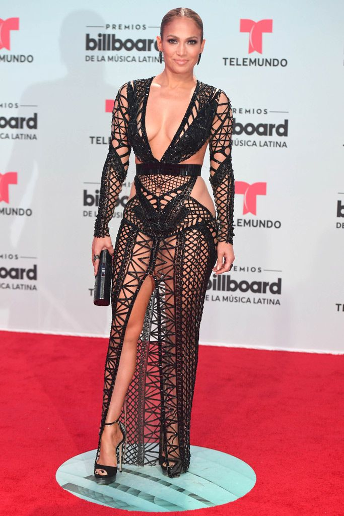 ebb9aafad1e JLo Wore Two Really Revealing Dresses for Latin Billboards  PHOTOS