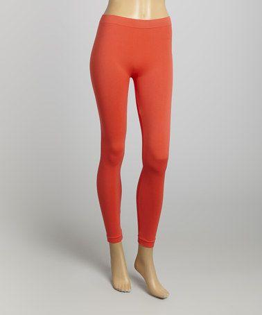 Look at this #zulilyfind! Coral Leggings by La Moda Clothing #zulilyfinds