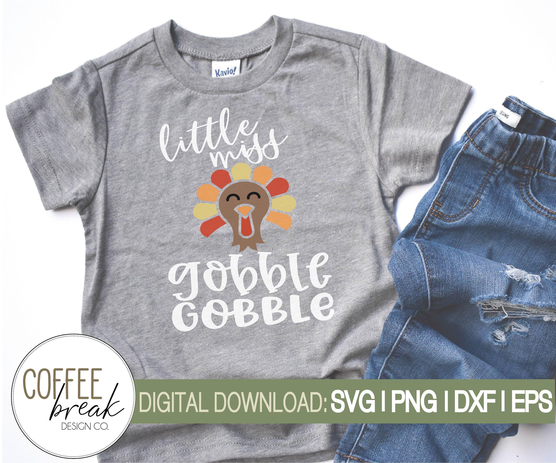 Download Little Miss gobble gobble SVG   Thanksgiving svg   Turkey ...