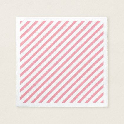 Minimal Pink Lines Paper Napkin - lines paper