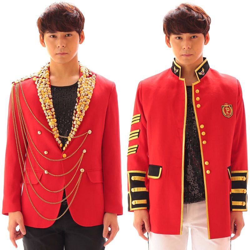 Click to Buy << red male blazer jacket male costume fashion prom ...