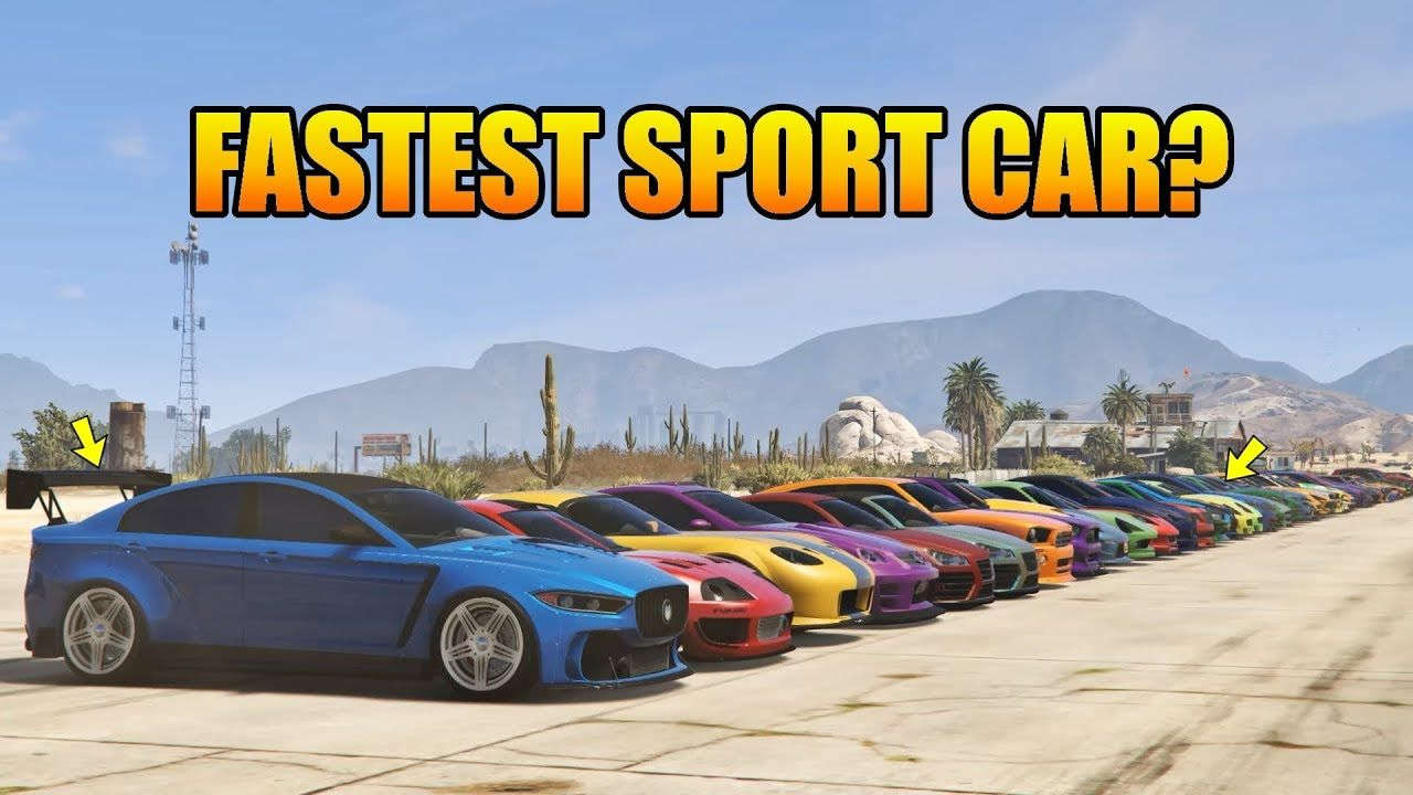 Gta V Online Which Is Fastest Sport Cars 1 4 Drag Race Top 10 Faste Fast Sports Cars Car Super Cars