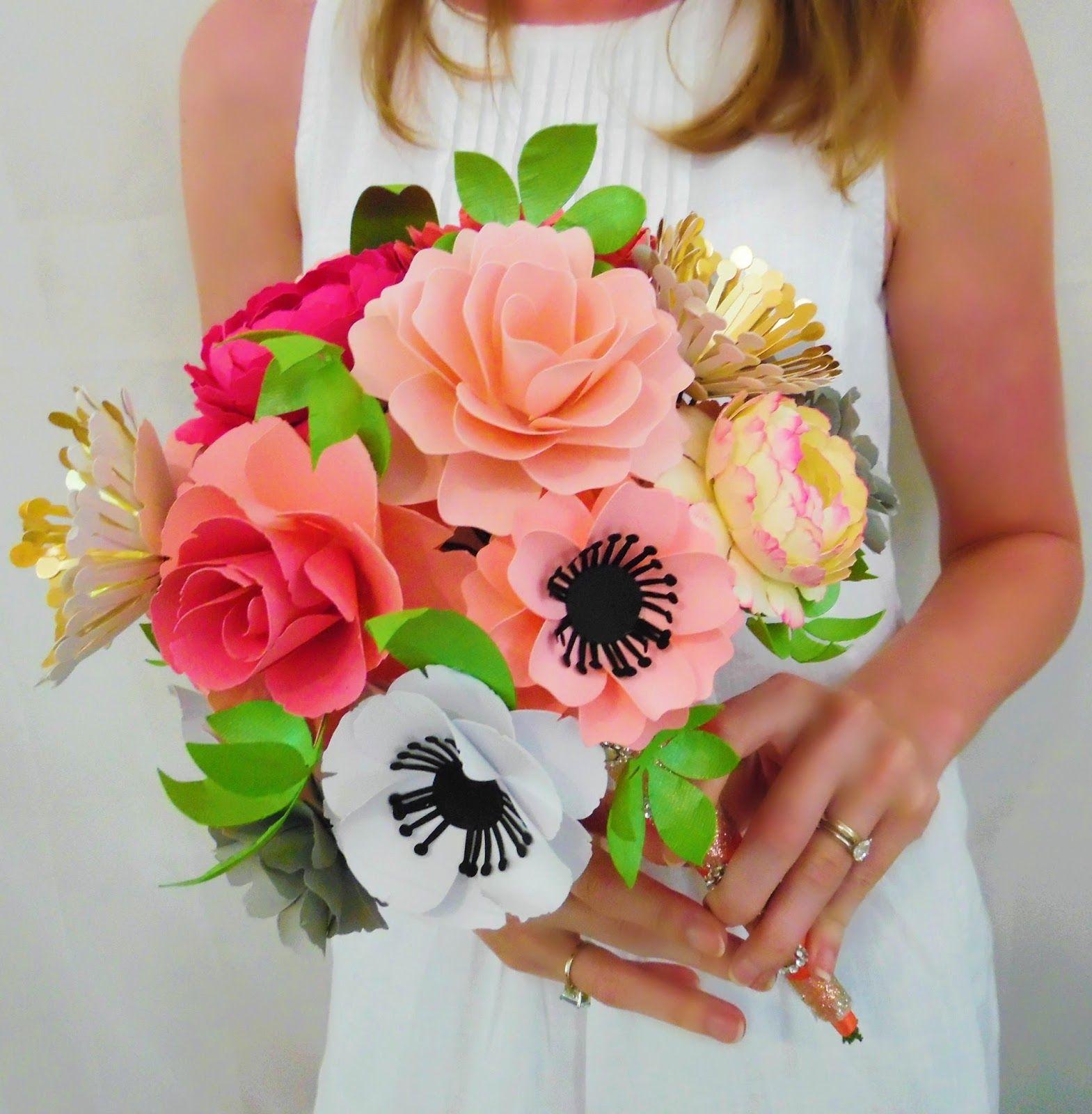 Diy paper flower bouquet creative craft spiration bloggers group diy paper flower bouquet izmirmasajfo