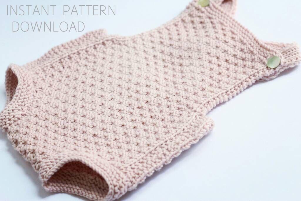 Baby romper Knitting pattern \