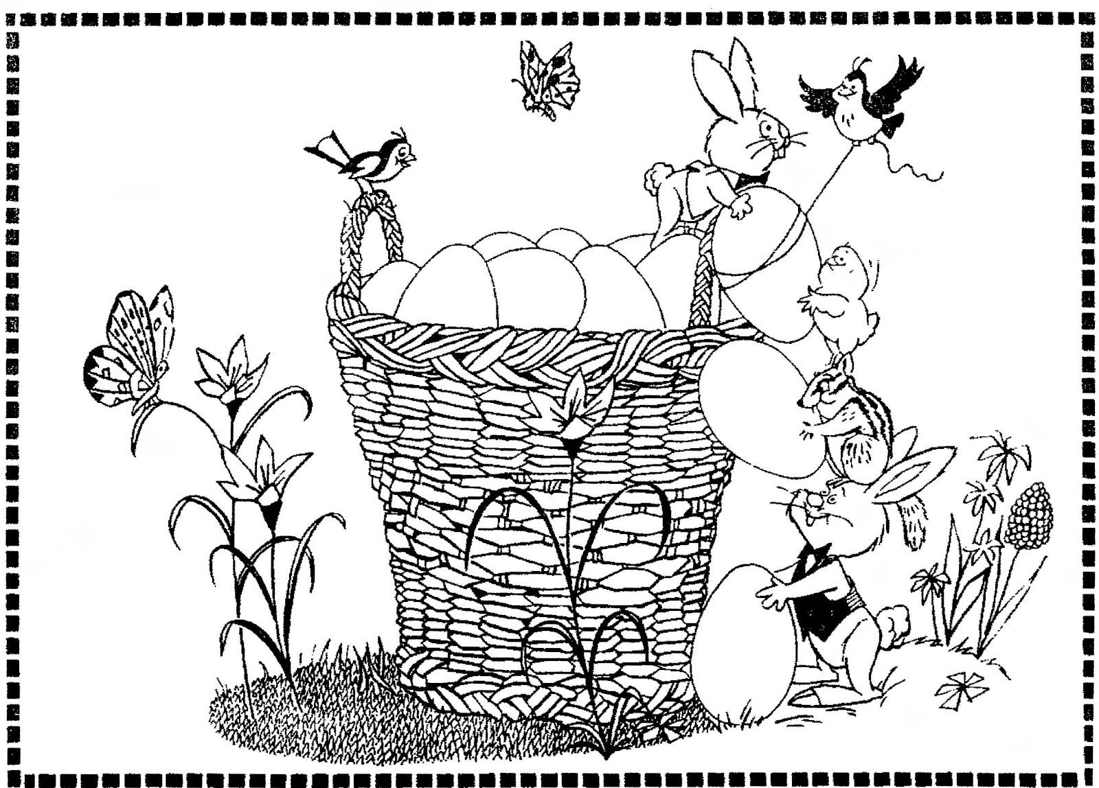 March 28 A Cute Newspaper Easter Coloring Contest
