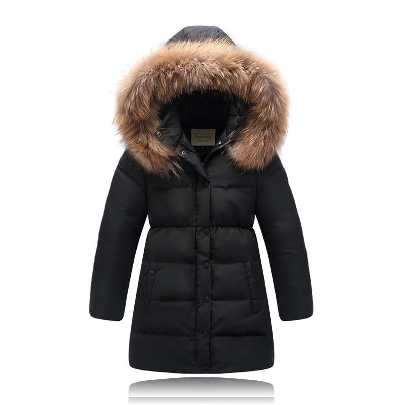 a2fc9a573f10 Click to Buy    Windproof Winter 2017 Warm Hood Kids Leather Jacket ...