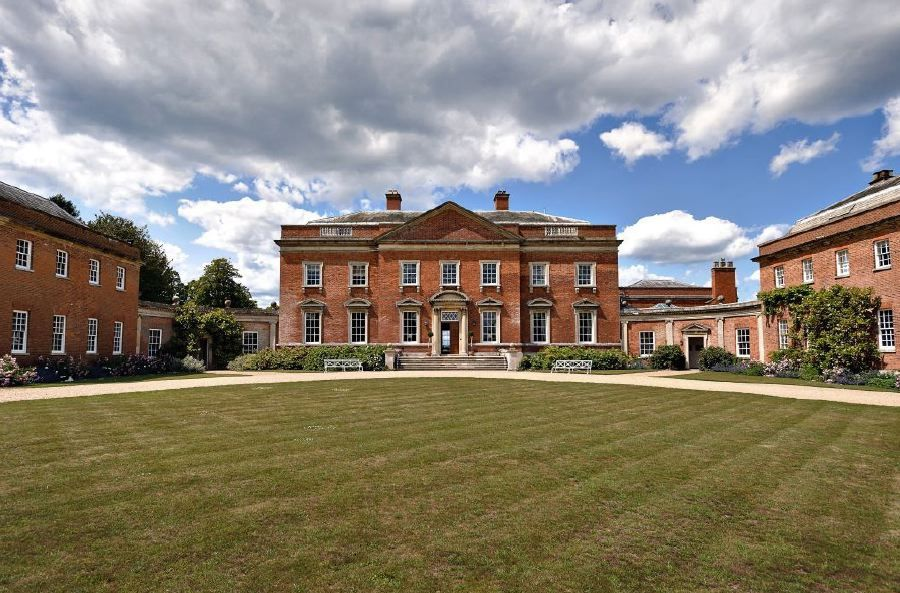 Beautiful Georgian Red Brick Country House With A Ballroom Great Hall Saloon Library And Picturesque Gardens Farmland