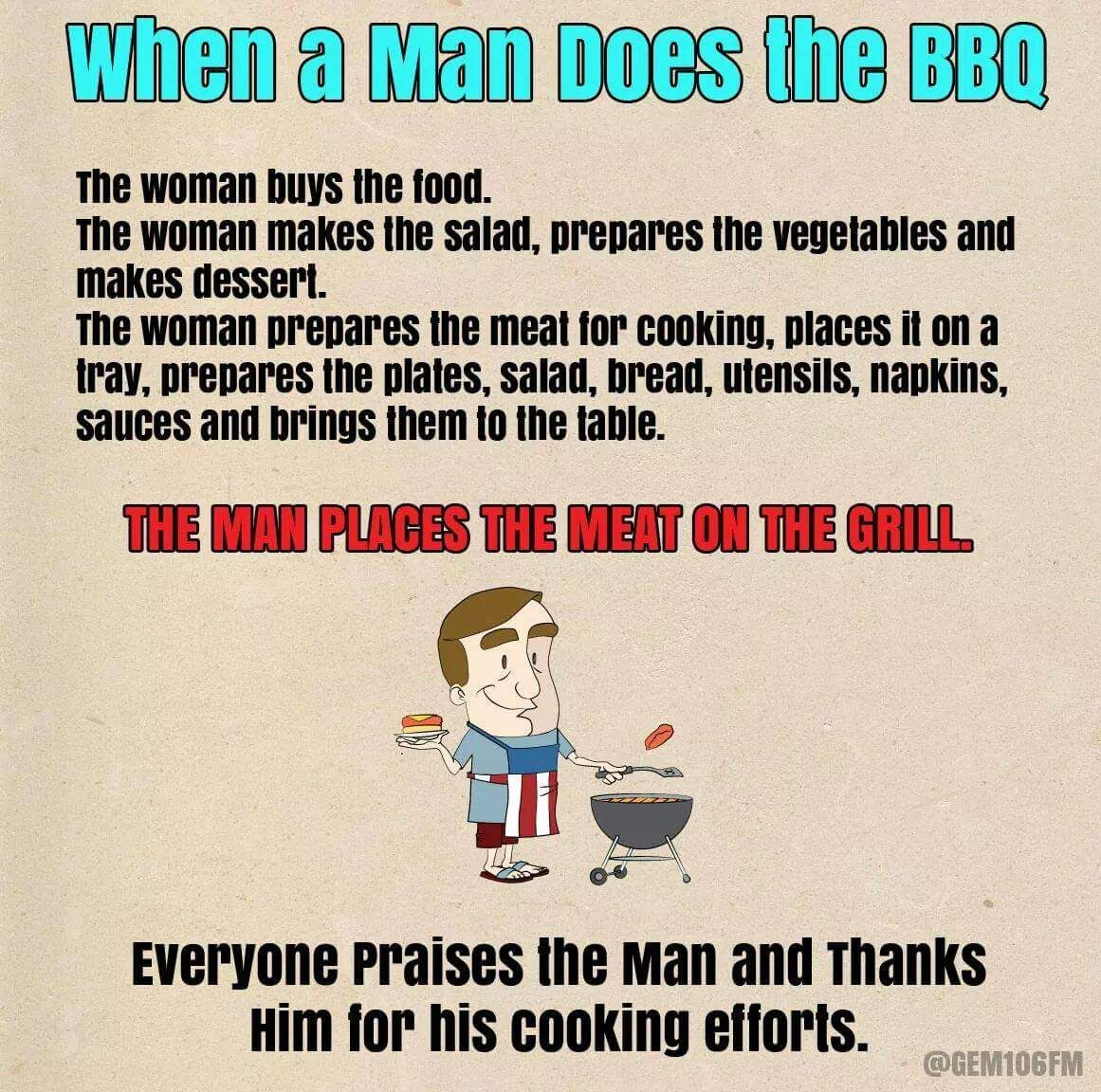 When A Man Does Bbq Meme Funny Quotes